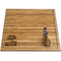 PREMIUM BAMBOO CHEESE BOARD SET - ETCHED