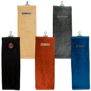 TRI-FOLD GOLF TOWEL- Plain